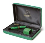 AURORA |  A LIMITED EDITION GREEN CELLULOID FOUNTAIN PEN, CIRCA 1998