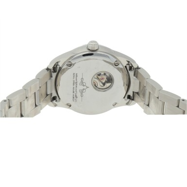 View 4. Thumbnail of Lot 474. ROYAL OPERA HOUSE MUSCAT STAINLESS STEEL AND DIAMOND-SET WRISTWATCH WITH DATE AND BRACELET.
