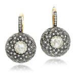Pair of diamond earrings, 'Indo Russian'