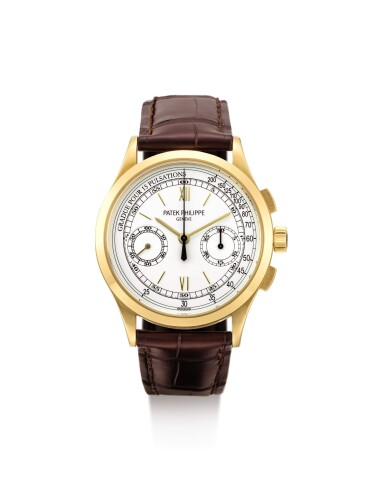 View 1. Thumbnail of Lot 33. PATEK PHILIPPE | REFERENCE 5170, A YELLOW GOLD CHRONOGRAPH WRISTWATCH WITH PULSATION SCALE, CIRCA 2011.