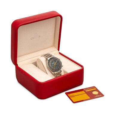 """View 4. Thumbnail of Lot 8101. OMEGA   SPEEDMASTER PROFESSIONAL MOONWATCH """"JAPAN RACING"""", REFERENCE 3570.40.00  A LIMITED EDITION STAINLESS STEEL CHRONOGRAPH WRISTWATCH WITH BRACELET, CIRCA 2005   歐米茄    超霸系列專業月球錶 """"Japan Racing"""" 型號3570.40.00   限量版精鋼計時鏈帶腕錶,約2005年製."""
