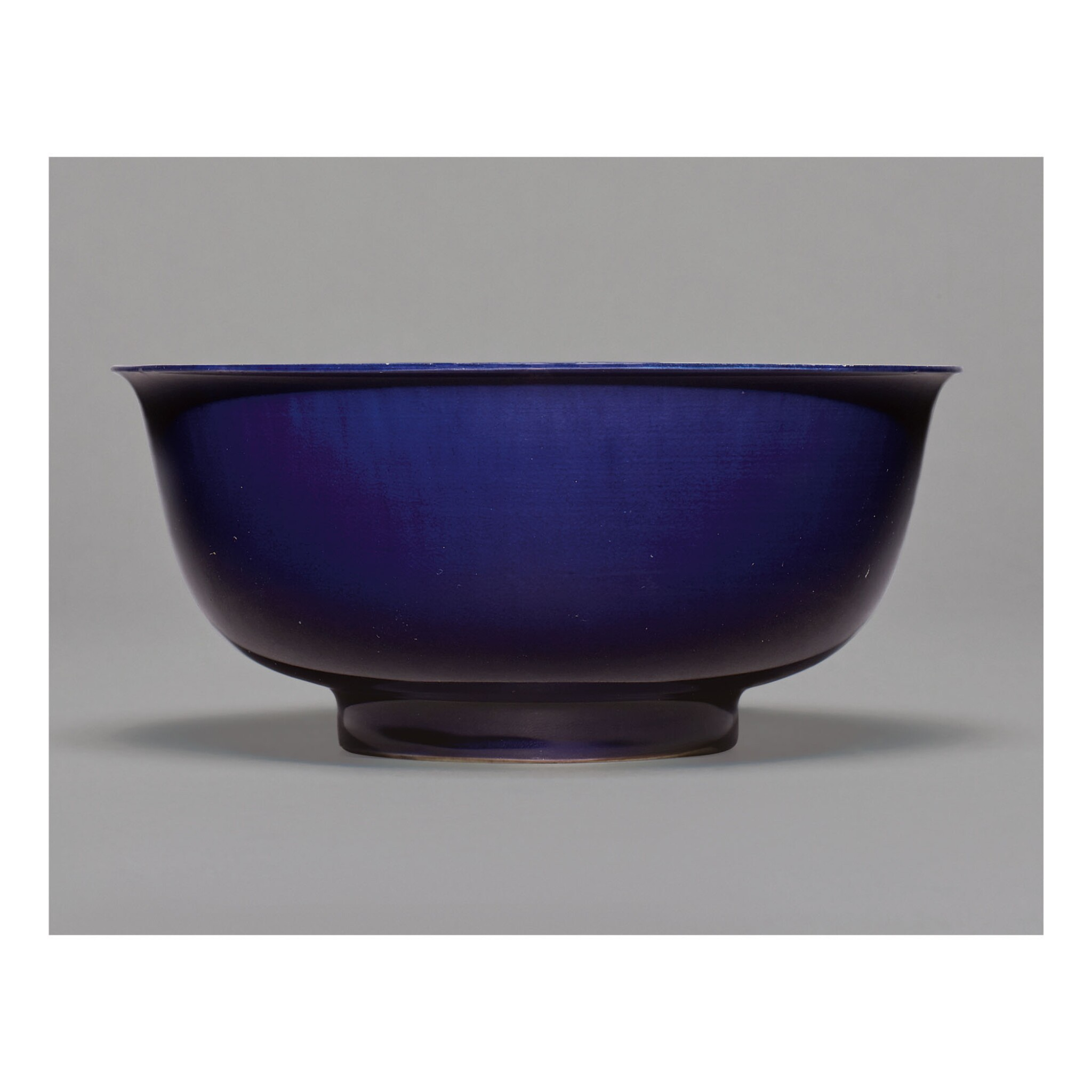View full screen - View 1 of Lot 104.  A RARE AUBERGINE-GLAZED BOWL,  KANGXI MARK AND PERIOD.