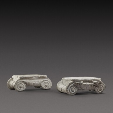 View 1. Thumbnail of Lot 79. Two Ionic Marble Capitals, circa 1st Century A.D..