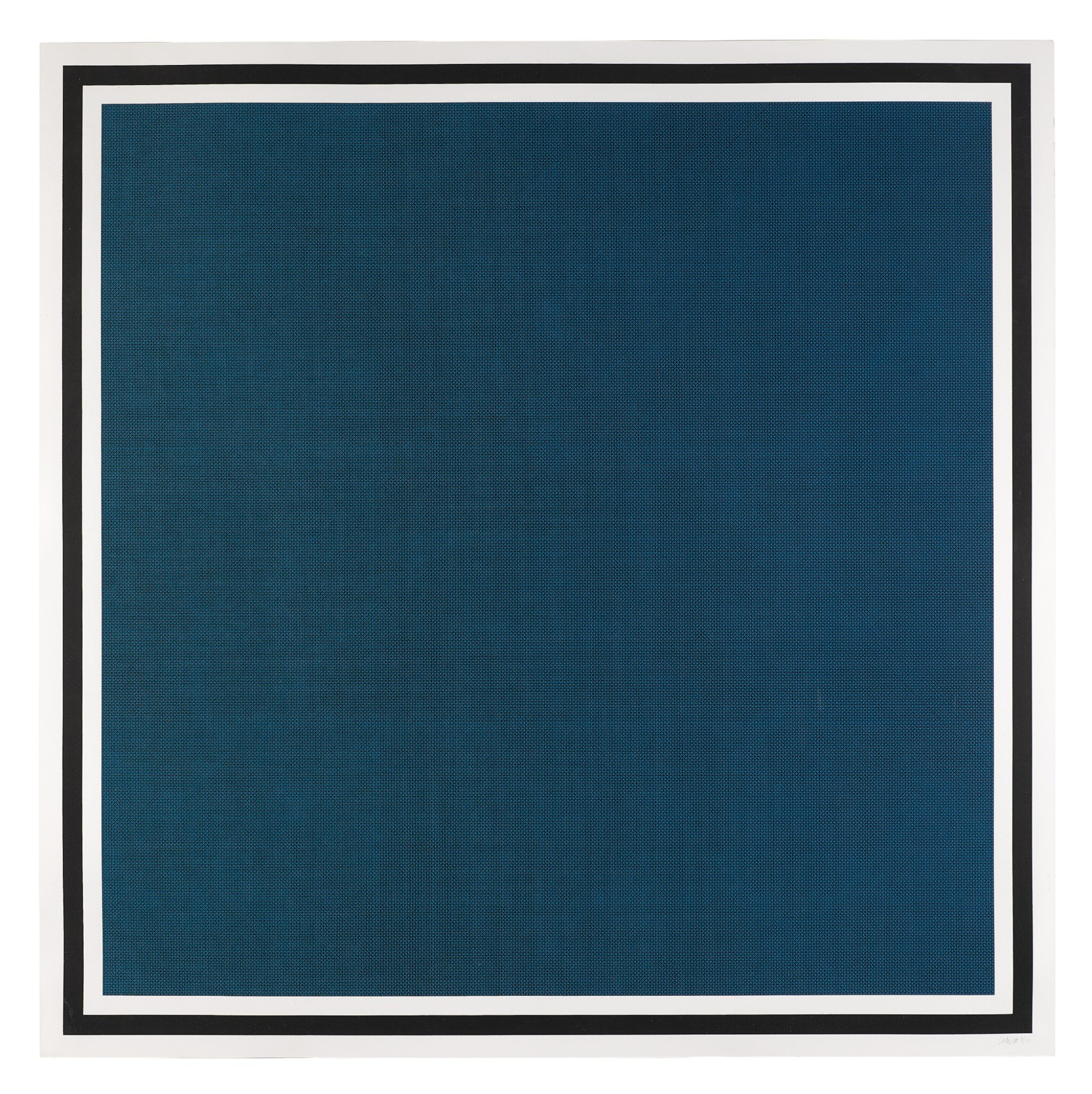 View 1 of Lot 98. Colors with Lines in Four Directions, Within a Black Border (Blue) (Krakow 1990.09).
