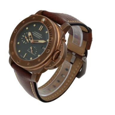 View 2. Thumbnail of Lot 904. LUMINOR SUBMERSIBLE 1950 3-DAYS AUTOMATIC BRONZO, REF PAM00507 LIMITED EDITION BRONZE WRISTWATCH WITH DATE AND POWER-RESERVE INDICATION CIRCA 2011.