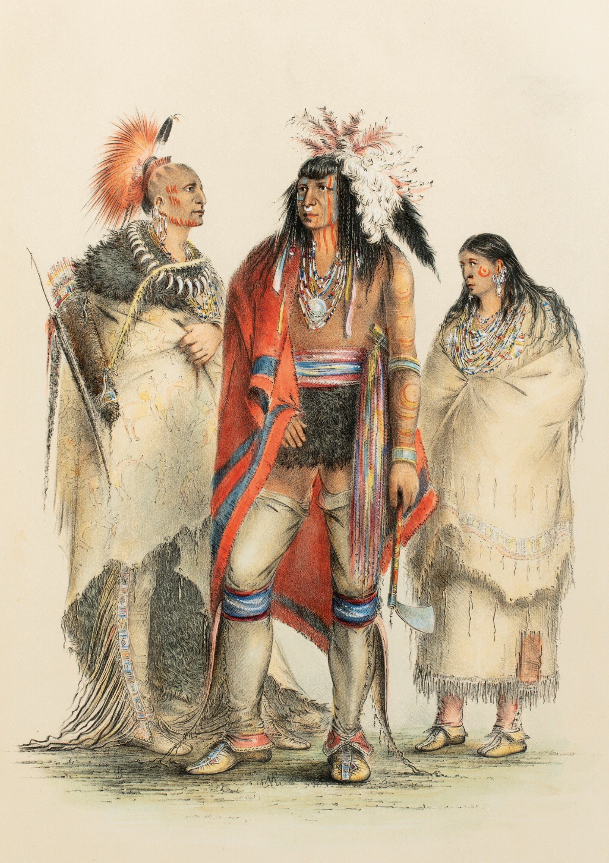 View full screen - View 1 of Lot 146. CATLIN. North American Indians portfolio. Londres, 1844. 25 planches coloriées à la main. Premier tirage..