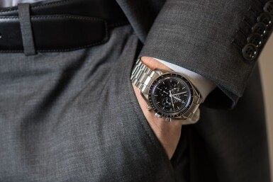 OMEGA | 50TH ANNIVERSARY SPEEDMASTER LIMITED SERIES STAINLESS STEEL CHRONOGRAPH WRISTWATCH WITH BRACELET CIRCA 2012