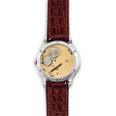 "View 3. Thumbnail of Lot 2212. F.P. Journe | Tourbillon Souverain ""Remontoir d'Egalite"" | A limited edition stainless steel tourbillon wristwatch with constant force remontoire and power reserve indication, Circa 2015 | Tourbillon Souverain 'Remontoir d'Egalite'  限量版精鋼陀飛輪腕錶,備恆動力裝置及動力儲備顯示,約2015年製."