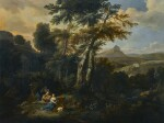 JOHANNES GLAUBER | LANDSCAPE WITH DIANA AND HER NYMPHS