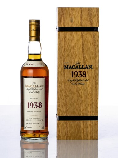 View 1. Thumbnail of Lot 5524. The Macallan Fine & Rare 31 Year Old 43.0 abv 1938 (1 BT70).