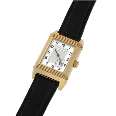 View 3. Thumbnail of Lot 86. JAEGER-LECOULTRE   REF 240.214 REVERSO, A PINK GOLD RECTANGULAR REVERSIBLE WRISTWATCH WITH POWER RESERVE INDICATION CIRCA 2005.