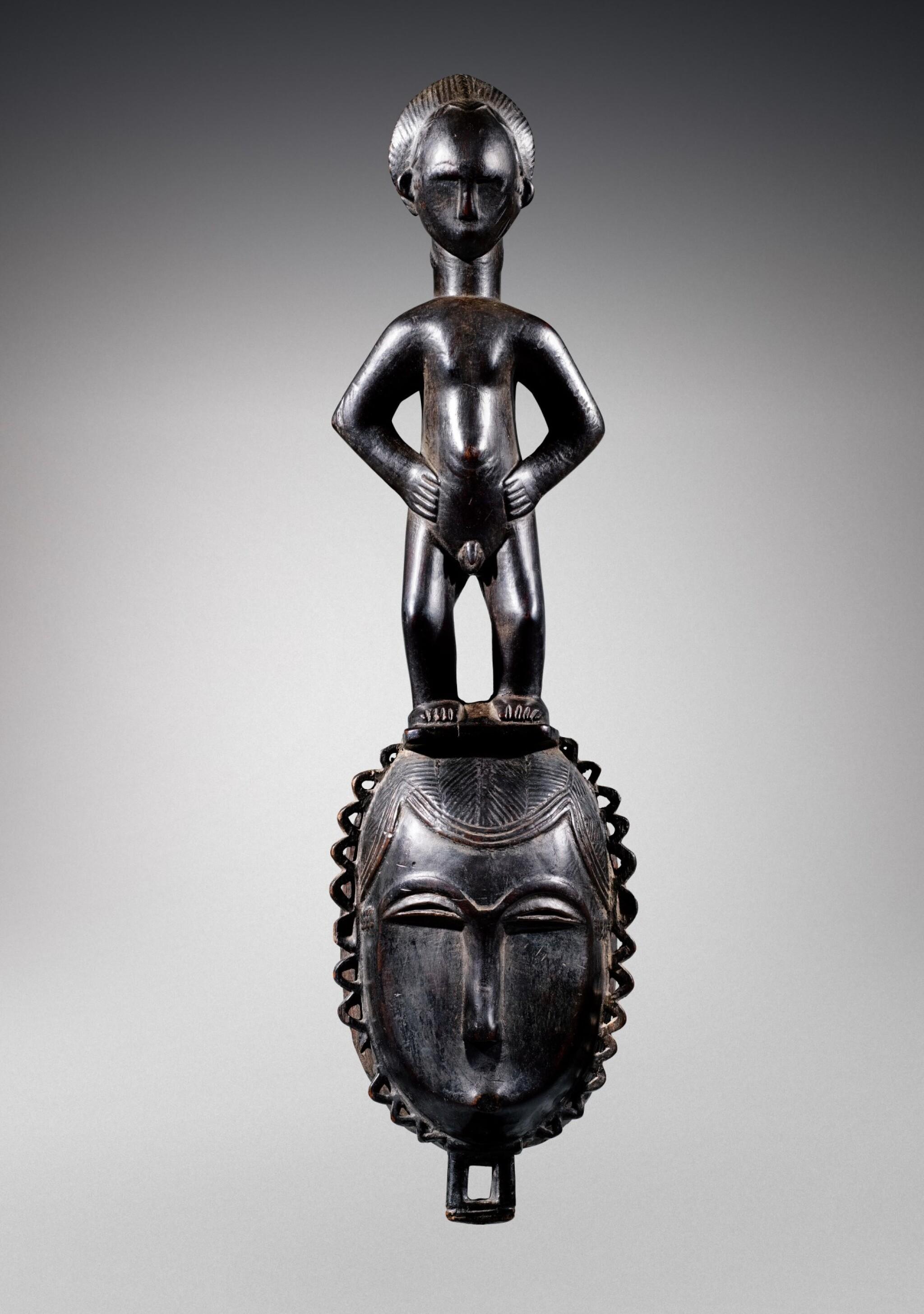 View full screen - View 1 of Lot 31. Masque, Yauré, Côte d'Ivoire   Yaure mask, Côte d'Ivoire.