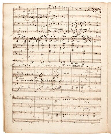 F. Mendelssohn. Manuscript of the String Quartet in E-flat op.12, with additions and corrections by the composer, 1829
