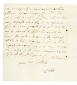 King George III, four autograph notes, 1778-1781, with a letter signed by Lord North, late 18th century