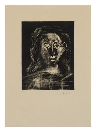 PABLO PICASSO | JACQUELINE AUX CHEVEUX FLOUS, EN BUSTE (B. 1091; BA. 1295)