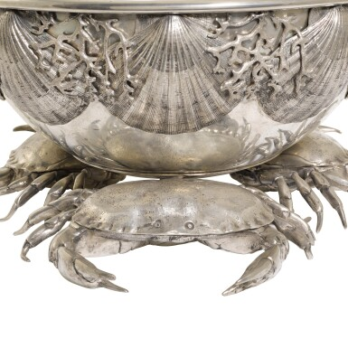 View 4. Thumbnail of Lot 22. A large Italian pewter champagne and wine cooler, designed by Piero Figura for Atena, Milan, modern.