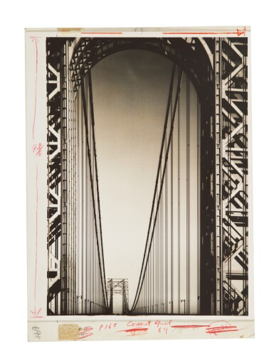 View 2. Thumbnail of Lot 88. MARGARET BOURKE-WHITE | GEORGE WASHINGTON BRIDGE.