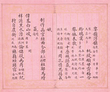 View 14. Thumbnail of Lot 3114. Peng Yuanrui 1731 - 1803 彭元瑞 1731-1803 | Poems for the Emperor Qianlong's Eightieth Birthday Celebration 《萬壽大慶八庚全韻詩》冊.