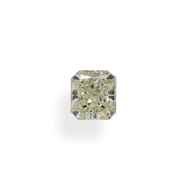 A 1.03 Carat Cut-Cornered Rectangular Modified Brilliant-Cut Diamond, U-V Color, VS2 Clarity