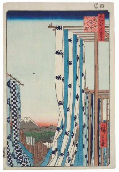UTAGAWA HIROSHIGE I (1797–1858), EDO PERIOD, 19TH CENTURY   TWO PRINTS FROM THE SERIES ONE HUNDRED FAMOUS VIEWS OF EDO (MEISHO EDO HYAKKEI)