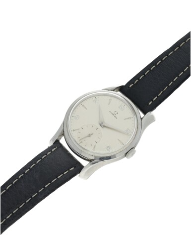 View 6. Thumbnail of Lot 62. REFERENCE 2487-5 A STAINLESS STEEL WRISTWATCH, CIRCA 1960.