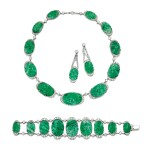 JADEITE AND DIAMOND PARURE, 1920S