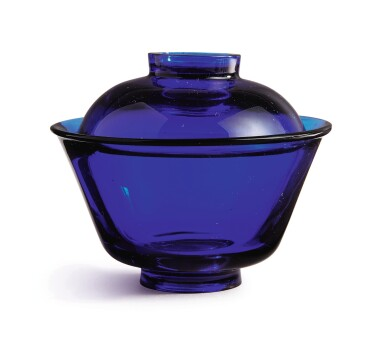View 3. Thumbnail of Lot 1012. A SAPPHIRE-BLUE GLASS BOWL AND COVER, QING DYNASTY, 18TH / 19TH CENTURY.