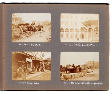 View 4. Thumbnail of Lot 95. Egypt | Album of 144 photographs of scenes in and around Cairo, 1907-8.