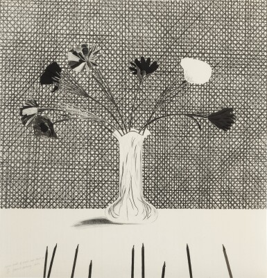 View 1. Thumbnail of Lot 77. Flowers Made of Paper and Black Ink (S.A.C. 120; M.C.A.T. 114).