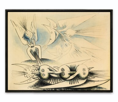 View 2. Thumbnail of Lot 34. WIFREDO LAM | SANS TITRE.