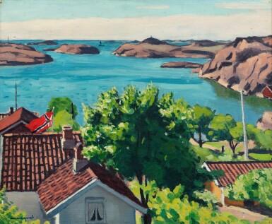 View 1. Thumbnail of Lot 231. Paysage à Hesnes, Norvège .