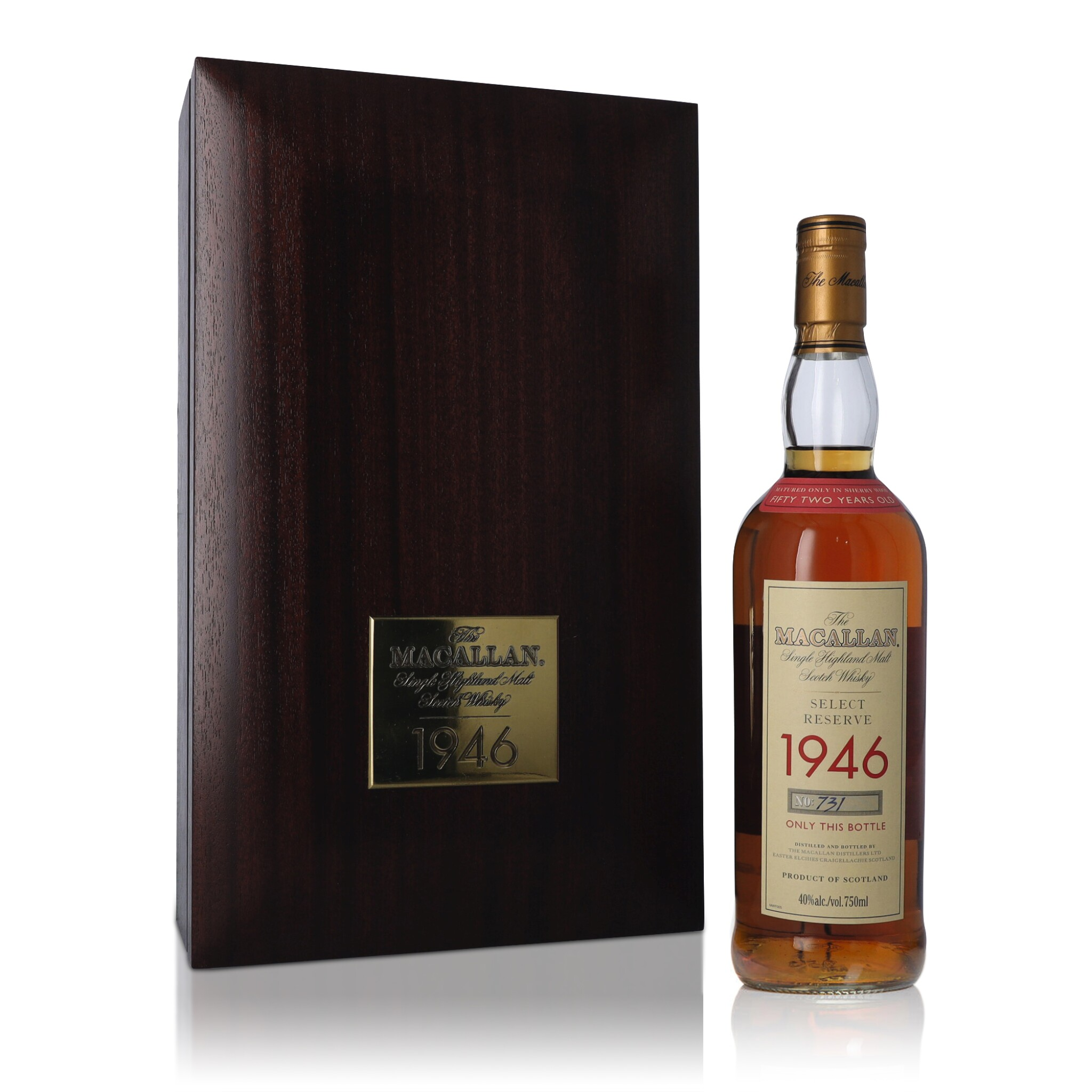 View full screen - View 1 of Lot 8. The Macallan 52 Year Old Select Reserve 40.0 abv 1946 (1 BT75).