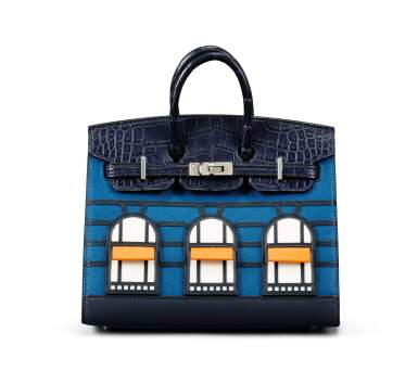 View 6. Thumbnail of Lot 20. Limited Edition Birkin Faubourg Sellier 20 in Veau Madame, Matte Alligator, Sombrero, Epsom and Swift Leather with Palladium Hardware, 2019.