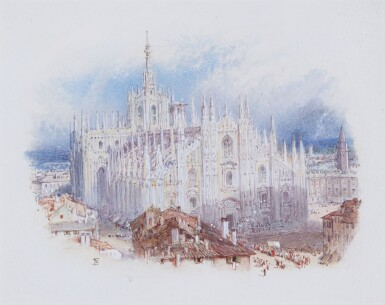 MYLES BIRKET FOSTER | The cathedral, Milan, Italy