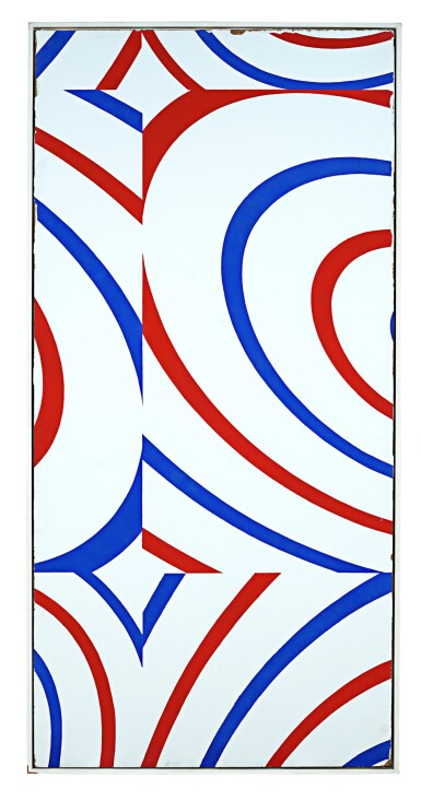 View 2. Thumbnail of Lot 54. Untitled (door panel), 1998.
