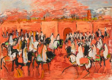 View 1. Thumbnail of Lot 64. HASSAN EL GLAOUI | FANTASIA HORSEMEN.
