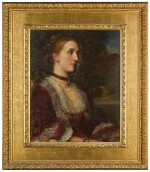 GEORGE FREDERIC WATTS, O.M., R.A. | PORTRAIT OF MRS AGNES JANE MOORE