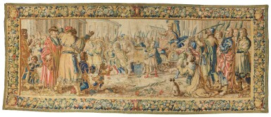 View 1. Thumbnail of Lot 17. A Triumph Classical Tapestry, Northern Netherlands,  third quarter 17th century .