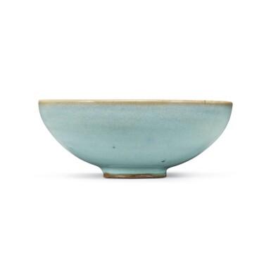 View 1. Thumbnail of Lot 194. A sky-blue glazed 'Jun' bowl, Jin dynasty | 金 鈞窰天藍釉盌.