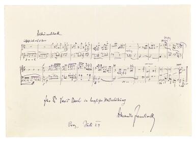 View 8. Thumbnail of Lot 92. Vienna. Autograph manuscripts by Bartok, Berg, Schoenberg, Strauss, Webern, Kokoschka, Schnitzler etc to D.J. Bach, 1924.