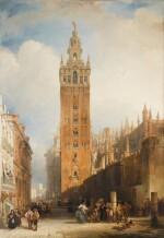 DAVID ROBERTS, R.A. |  THE MOORISH TOWER AT SEVILLE, CALLED THE GIRALDA