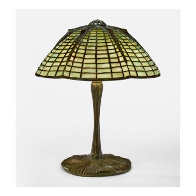 "TIFFANY STUDIOS   ""SPIDER"" TABLE LAMP"