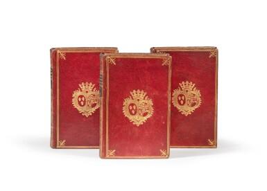 View 1. Thumbnail of Lot 77. Dictionnaire des portraits.1768. 3 vol. aux armes de la comtesse de Provence. Avec : Richer..