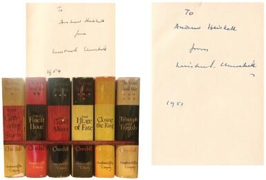 View 1. Thumbnail of Lot 66. Winston S. Churchill | The Second World War. Boston: Houghton Mifflin Company, 1948-1953.