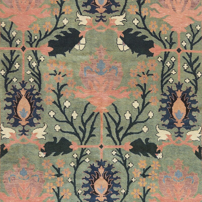 """Hand-Knotted Donegal Rug 8' x 10'2"""""""