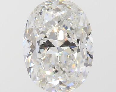 A 1.01 Carat Oval-Shaped Diamond, H Color, VS2 Clarity