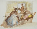 GIUSEPPE BERNARDINO BISON | AN ELEGANT COUPLE TAKING AFTERNOON TEA