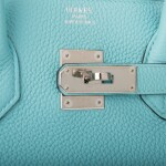 Hermès Bleu Atoll Birkin 35cm of Togo Leather with Palladium Hardware
