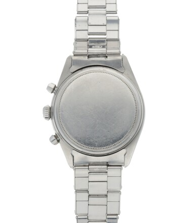 View 4. Thumbnail of Lot 401. ROLEX   'PRE-DAYTONA', REF 6238 STAINLESS STEEL CHRONOGRAPH WRISTWATCH WITH BRACELET CIRCA 1963.