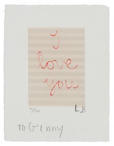 LOUISE BOURGEOIS | I LOVE YOU (MOMA 1139)